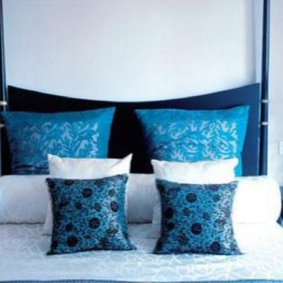 contemporary blue bedroom themes